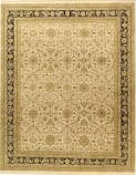 Due Process Jagapatti Sultanabad Ivory - Black Area Rug