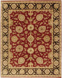 Due Process Kendra Kashan Red - Midnight Blue Area Rug