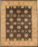 Due Process Khyber Mahal Black-Cream Area Rug