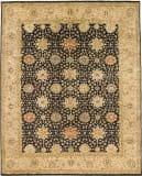 Due Process Khyber Mahal Black - Cream Area Rug