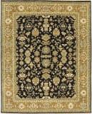 Due Process Mirzapur Mahal Black - Dark Gold Area Rug