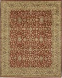 Due Process Mirzapur Yezd Red - Light Gold Area Rug