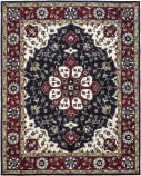 Due Process Tufted Kashan Covered Field Navy - Red Area Rug