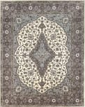 Due Process Tufted Mohtesham Covered Field Ivory - Frost Grey Area Rug