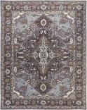 Due Process Tufted Serapi Covered Field Frost Grey - Steeple Grey Area Rug