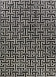 Exquisite Rugs Natural Hide Hair on Hide 2214 Ivory - Charcoal Area Rug
