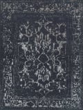 Exquisite Rugs Terras Hand Knotted 3131 Dark Blue - Silver Area Rug