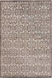 Exquisite Rugs Bamboo Silk Hand Knotted 3291 Ivory - Dark Brown Area Rug