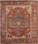 Exquisite Rugs Antique Weave Serapi Hand Knotted 3347 Red - Rust Area Rug