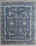 Exquisite Rugs Antique Weave Oushak Hand Knotted 3422 Blue Area Rug