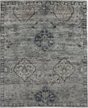 Exquisite Rugs Antique Weave Bamboo Hand Knotted 3483 Gray - Denim Area Rug