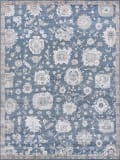 Exquisite Rugs Museum Hand Knotted 3494 Navy - Beige Area Rug
