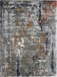 Exquisite Rugs Laureno Hand Knotted 4023 Navy - Silver - Multi Area Rug