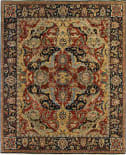 Exquisite Rugs Antique Weave Serapi Hand Knotted 5024 Red - Blue Area Rug