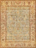 Exquisite Rugs Antique Weave Serapi Hand Knotted 7044 Light Blue - Ivory Area Rug