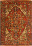 Exquisite Rugs Antique Weave Serapi Hand Knotted 7045 Red Area Rug