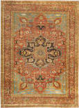 Exquisite Rugs Antique Weave Serapi Hand Knotted 7046 Rust Area Rug