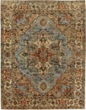 Exquisite Rugs Antique Weave Serapi Hand Knotted 7051 Light Blue - Ivory Area Rug