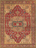 Exquisite Rugs Antique Weave Serapi Hand Knotted 8144 Red Area Rug