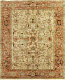 Exquisite Rugs Antique Weave Serapi Hand Knotted 9160 Ivory - Red Area Rug