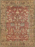 Exquisite Rugs Antique Weave Serapi Hand Knotted 9204 Rust - Gold Area Rug