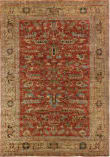 Exquisite Rugs Antique Weave Serapi Hand Knotted 9225 Rust - Gold Area Rug
