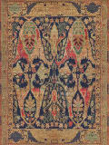 Exquisite Rugs Jurassic Hand Knotted 9368 Blue - Beige Area Rug