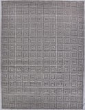 Exquisite Rugs Greek Key Hand Knotted 9419 Silver Area Rug
