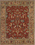 Exquisite Rugs Antique Weave Serapi Hand Knotted 9745 Red - Gold Area Rug