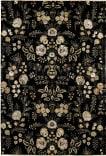 Feizy Luxury GEN-0059 Black Area Rug