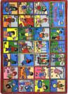 Joy Carpets Kid Essentials Abc Feelings Multi Area Rug