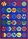 Joy Carpets Kid Essentials Alphabet Patterns Multi Area Rug
