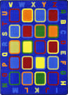 Joy Carpets Kid Essentials Alphabet Tiles Multi Area Rug