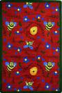 Joy Carpets Kid Essentials Bee Attitudes Red Area Rug