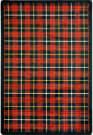 Joy Carpets Kaleidoscope Bit O' Scotch Lumberjack Red Area Rug