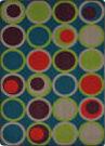 Joy Carpets Kid Essentials Circle Back Tropics Area Rug