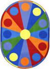Joy Carpets Kid Essentials Color Wheel Multi Area Rug