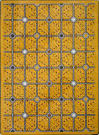 Joy Carpets Kaleidoscope Electrode Gold Area Rug