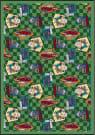 Joy Carpets Kaleidoscope Fabulous Fifties Green Area Rug