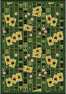 Joy Carpets Games People Play Feeling Lucky Emerald Area Rug