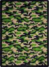 Joy Carpets Kaleidoscope Funky Camo Dark Army Area Rug