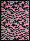 Joy Carpets Kaleidoscope Funky Camo Pink Area Rug