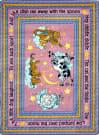 Joy Carpets Kid Essentials Hey Diddle Diddle Pink Area Rug