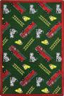 Joy Carpets Playful Patterns Hook And Ladder Green Area Rug