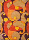 Joy Carpets Kid Essentials Jazzy Orange/Purple Area Rug