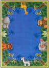 Joy Carpets Kid Essentials Jungle Friends Multi Area Rug