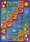 Joy Carpets Kid Essentials Learning Letter Sounds Multi Area Rug