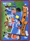 Joy Carpets Kid Essentials Library Day Multi Area Rug