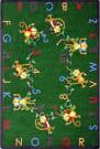 Joy Carpets Kid Essentials Monkey Business Green Area Rug
