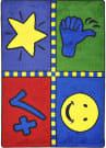 Joy Carpets Kid Essentials Motivation Mat Multi Area Rug